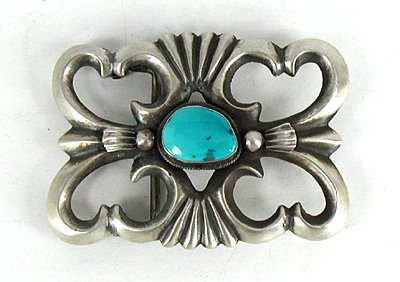 Authentic Navajo Sand Cast Sterling Silver And Blue Ridge