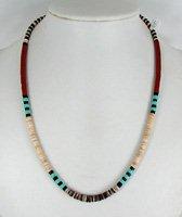 Santo Domingo Navajo Heishi Nugget Necklaces Chokers