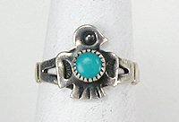 Navajo sterling silver thunderbird ring native american for Thunderbird jewelry albuquerque new mexico