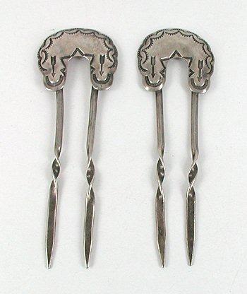 Vintage Sterling Silver Stamped Hair Pins