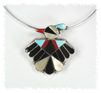 Zuni thunderbirds for Thunderbird jewelry albuquerque new mexico