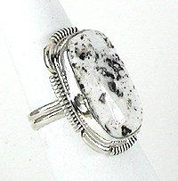 White Turquoise Ring Native American Navajo Jane Francisco
